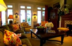 Paula Deen living room :)  using this as a template for my living room!! LOVE the colors!!