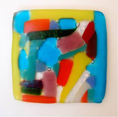 Jodi might have this glass collage slumped into a dish form.