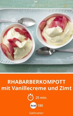 Rhabarberkompott mit Vanillecreme und Zimt