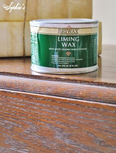 Briwax Liming Wax - For that white-washed look with built-in protection!