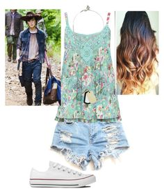 """Untitled #59"" by mayaforever3 ❤ liked on Polyvore featuring M&Co, Converse and GUESS"