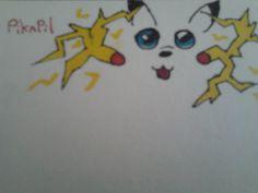 Pikachu performing a thundershock