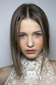Kristina Romanova backstage at Ralph Lauren Spring 2011