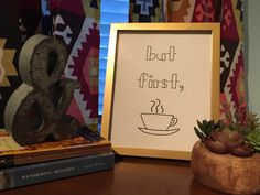 But First Coffee Print Coffee Wall Art  Coffee by MagpiePrintCo