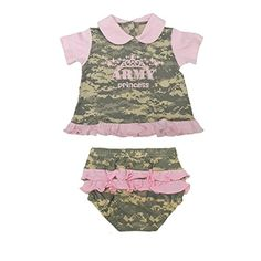 Trooper Clothing Infant ACU Army Princess 2 Pc Set Pink 03 Months *** Click image for more details.