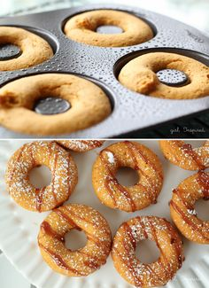 To celebrate the arrival of our Ricardo Non Stick Donut Pan, we're sharing 15 of the most delicious donut recipes! Donut Recipes, Cooking Recipes, Cream Puff Recipe, Delicious Donuts, Baked Donuts, No Bake Desserts, Sweet Recipes, Breakfast Recipes, Sweet Treats