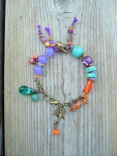 Boho Bracelet Bohemian Style Gypsy Jewelry Artisan by BohoStyleMe