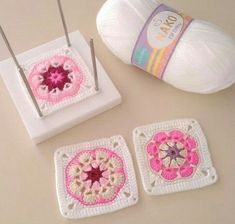 Pot Holders, Like4like, Baby, Instagram, Squares, Crochet Stitches, Flowers, Hot Pads, Bobs