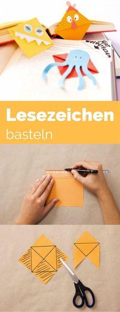 Lesezeichen basteln Anleitung - denn im Herbst lesen wir doch alle mehr, weil es so gemütlich ist. So einfach, dass es auch mit Kindern Spaß macht. Aus Papier basteln und dann einfach auf die Ecke der Buchseite stecken, wo man aufhört zu lesen. http://www.meinesvenja.de/2014/01/24/lesezeichen_basteln/
