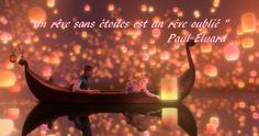 """""""Un rêve sans étoiles est un rêve oublié""""  Paul Eluard-citation"""
