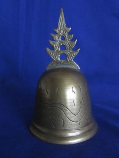 RARE BRASS TIBETAN BUDDHIST TEMPLE BELL COMPLETE WITH INSCRIPTION