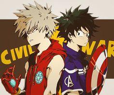 Boku no Hero Academia x Marvel || Cross-Over [ KatsukI Bakugou, Midoriya Izuku. ]