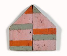 painted driftwood assemblage by Betty Parsons Kitsch, Painted Driftwood, Driftwood Art, Homemade Art, Ceramic Houses, Palette, Wall Collage, Abstract Expressionism, Abstract Art