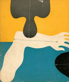 """""""Anatomy for Interior Designers"""", 1948, back of book cover, designed by Alvin Lustig. this image is upside down."""