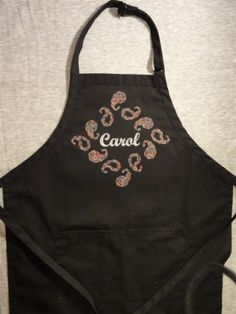 Paisley Apron Embroidery