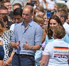 Kate Middleton Photos Photos - Catherine, Duchess of Cambridge and Prince William, Duke of Cambridge after competing as they cox of rowing boats in a friendly race between the twinned town of Cambridge and Heidelberg on the Neckar River during the second day of their visit to Germany on July 20, 2017 in Heidelberg, Germany. The royal couple are on a three-day trip to Germany that includes visits to Berlin, Hamburg and Heidelberg. - The Duke and Duchess of Cambridge Visit Germany - Day 2