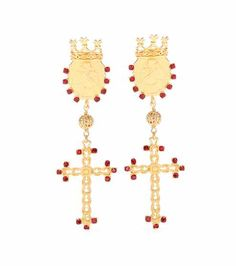 Embellished clip-on earrings | Dolce & Gabbana