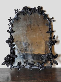 ~linen & lavender: Antique & Vintage Finds - Belgian Mirror, Hand-forged, Antique, Old Glass - collected by linenandlavender.net for - http://www.linenandlavender.net/p/antique-vintage-finds.html