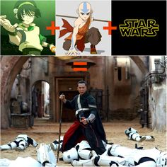 Toph + Aang + Star Wars = Chirrut Imwe<<< I was thinking this the whole movie!!>>> I even said he was just like a religious Toph