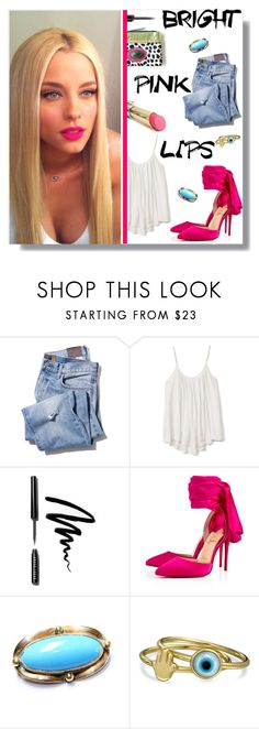"""""""Pink Lips & Go!"""" by peony-and-python ❤ liked on Polyvore featuring L'Oréal Paris, Gap, Bobbi Brown Cosmetics, Christian Louboutin and Bling Jewelry"""