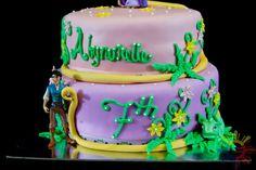 2 Tier Tangled Cake