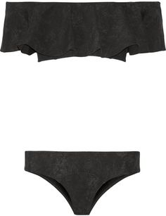 Pin for Later: 47 Maillots de Bain Soldés Que Vous Adorerez Porter Pendant Vos Vacances  Lisa Marie Fernandez Bikini bandeau à  volants imprimé Mira (430€, soldé 301€)