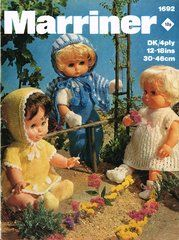 Marriner 1692 dolls clothes vintage knitting pattern