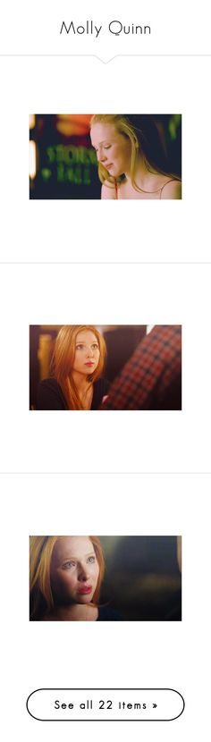 """Molly Quinn"" by emma-frost-98 ❤ liked on Polyvore featuring molly quinn, people, girls, models, actors, castle, females, alexis, beauty products and haircare"
