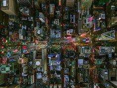 Jeffrey Milstein - NYC Times Square Bwy and 7th Ave. Fotografia aerea NY. Paisajes de la modernidad. Geometria arquitectonica de la ciudad. Luces de Nueva York. Vista aerea. #cityscapes #iconocero
