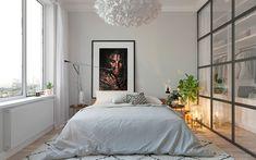 Scandinavian bedroom design on Behance Bedroom Furniture Makeover, Home Decor Bedroom, Modern Bedroom, Design Bedroom, New Yorker Stil, Interior Design Career, Scandinavian Bedroom, Room Planning, Home And Deco