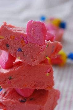 Pink Bubblegum Fudge recipe, pair this with the cotton candy bars and somebody's gonna have a belly ache ;-)