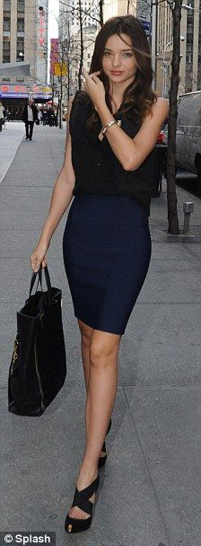 Miranda Kerr fashion is beautiful especially with a nice fitted pencil skirt...you can never go wrong with a classic look.