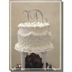 "Wedding Words Cake ""Joy"" Toppers in Acrylic Mirror"