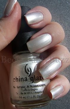 China Glaze Platinum Pearl  Love this, wearing it right now! so beautiful