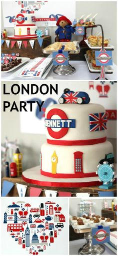 British London inspired birthday party
