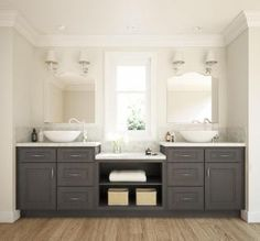 Glazed Stone Grey - Ready to Assemble Bathroom Vanities - Bathroom Vanities