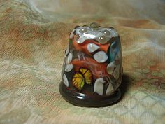 On Sale! Fantasy - Lampwork Art Glass Collectible Thimble, OOAK, SRA - pinned by pin4etsy.com
