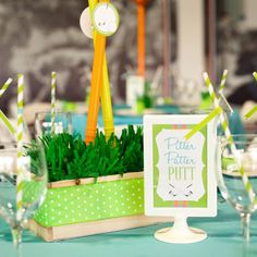 A golf-themed baby shower for your little putter. #baby #babyshower