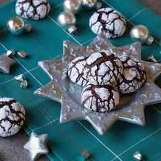 Schokoladen-Crinkle-Cookies von Danielas Foodblog für den Sugarprincess Christmas Cookie Club 2017, Foodblogger Adventskalender mit großem Gewinnspiel