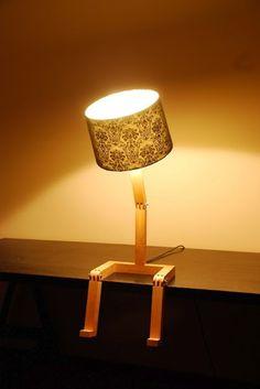 Una lámpara que se puede sentar