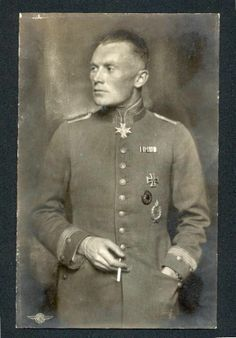 Rittmeister Karl Bolle, (20 June 1893 – 9 October 1955), Pour le Merite, Military Merit Cross, Royal House Order of Hohenzollern, Friedrich Order, Iron Cross was a fighter ace with 36 aerial victories during World War I. He became a Jagdstaffel commander during that war, and an advisor to the Luftwaffe during World War II.