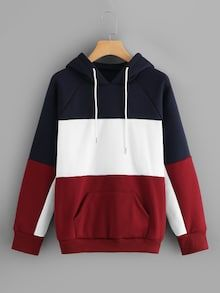 To find out about the Color-block Drawstring Hoodie at SHEIN, part of our latest Sweatshirts ready to shop online today! Cheap Hoodies, Cool Hoodies, Hoodie Outfit, Sweater Hoodie, Funny Sweatshirts, Hooded Sweatshirts, Sweat Shirt, Sweat Style, Cool Outfits
