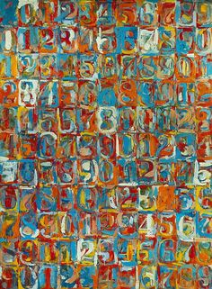 Jasper Johns (American, b. Numbers in Color, Encaustic and newspaper on canvas. Jasper Johns, Neo Dada, Tachisme, Arte Pop, Abstract Expressionism, Abstract Art, Pop Art, Modern Art, Contemporary Art