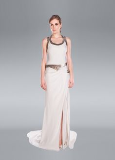 A luxury bridal collection for fashion forward, contemporary brides. Gowns that showcase Amanda Wakeley's trademark 'clean glam' look and gorgeous silhouettes. Classy Wedding Dress, Amanda Wakeley, Draped Skirt, Traditional Wedding Dresses, Sophisticated Bride, Bridal Collection, Fashion Forward, Gowns, Formal Dresses