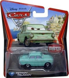 Disney / Pixar CARS 2 Movie 155 Die Cast Car #18 Petrov Trunkov by Mattel. $3.29. All your favorite characters from the Disney Pixar film, CARS 2, in 155th scale. With authentic styling and details, these die cast characters are perfect for recreating all the great scenes from the movie. Collect them all!Star racecar Lightning McQueen and the incomparable tow truck Mater take their friendship to exciting new places in Disney Pixar Cars 2 when they head overseas to compete in...