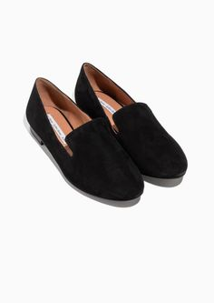 & Other Stories image 2 of Suede Loafers in Black