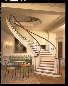 The Montmorenci Staircase at Winterthur by Winterthur Museum, via Flickr