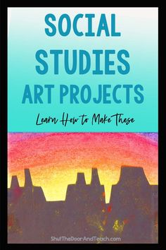 Learn how to make a beautiful art display for southwest landforms. Your students will love this United States project. #activities #4thgrade #socialstudies Social Studies For Kids, Social Studies Projects, 4th Grade Social Studies, Social Studies Activities, Upper Elementary Resources, Elementary Teacher, Unit Plan, Teacher Blogs, Activity Centers