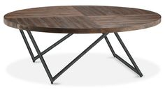 Enjoy the industrial vibe this Medano coffee table brings to your home. Reminiscent of airplane wings, the angled, metal legs create a modern design in your space and ensure your home doesn't feel overcrowded. A distressed nutmeg finish complements the table's industrial design, while individual shading, distress marks and wood grains give this collection its own special character.
