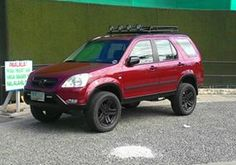 Lifted CRV, top rack with lights